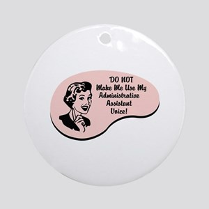 Administrative Assistant Voice Ornament (Round)