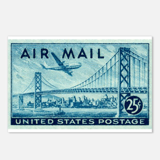 Unique Postage Postcards (Package of 8)