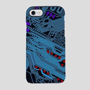 Blue Circuit Pattern iPhone 7 Tough Case
