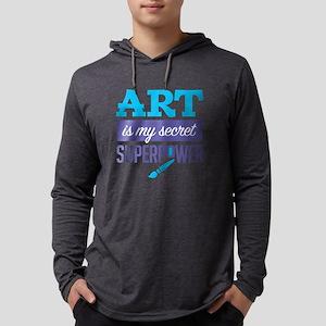 Art is My Secret Superpower Long Sleeve T-Shirt
