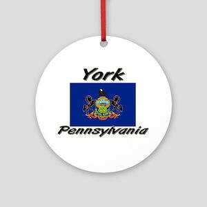York Pennsylvania Ornament (Round)