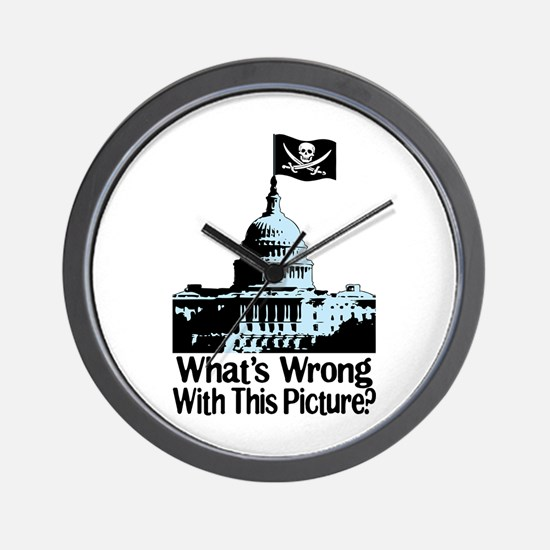 Whats Wrong With This Pictur Wall Clock