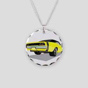 1968 Charger in Yellow with Necklace Circle Charm