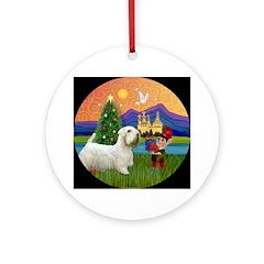 Sealyham Terrier Xmas Fantasy Ornament (Round)