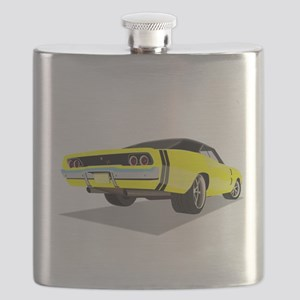1968 Charger in Yellow with Black Top Flask