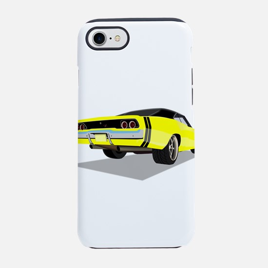 1968 Charger in Yellow with Bl iPhone 7 Tough Case