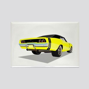1968 Charger in Yellow with Black Top Magnets