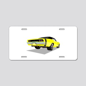 1968 Charger in Yellow with Aluminum License Plate