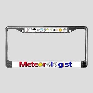 Meteorologist License Plate Frame