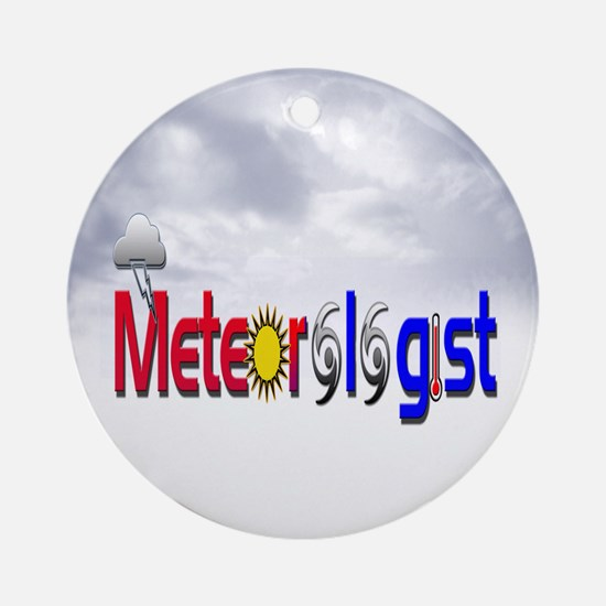 Meteorologist Ornament (Round)