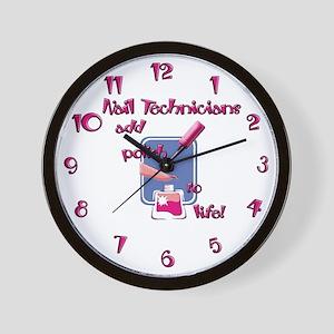 Nail Technicians Wall Clock