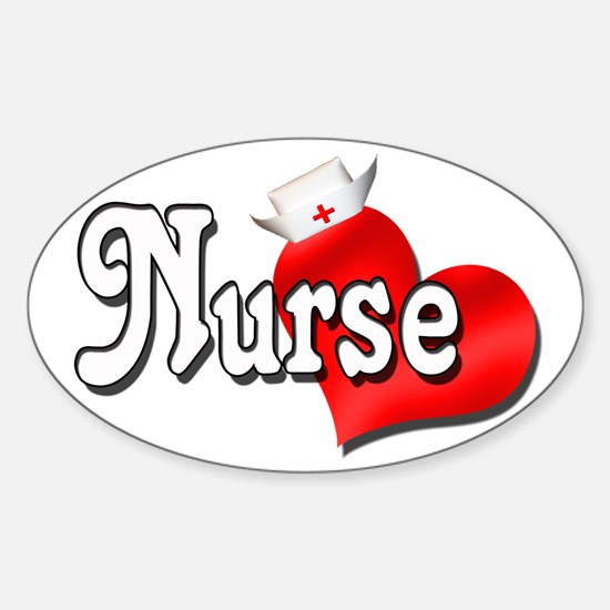 Nurse Oval Decal