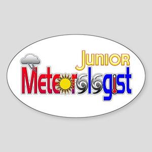 Junior Meteorologist Oval Sticker