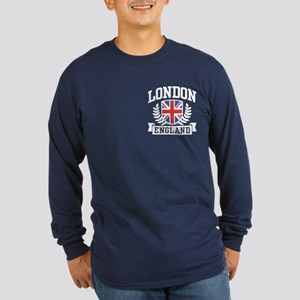 London England Long Sleeve Dark T-Shirt