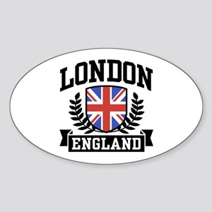 London England Oval Sticker