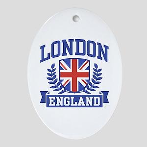 London England Oval Ornament