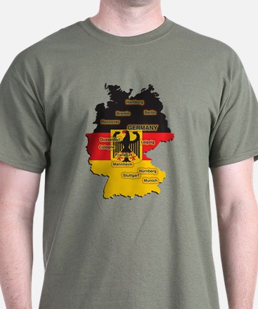 Germany Map T-Shirt