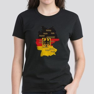 Germany Map Women's Dark T-Shirt