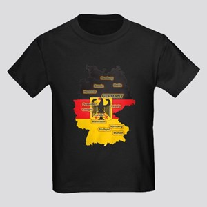 Germany Map Kids Dark T-Shirt