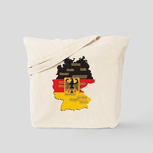 Germany Map Tote Bag