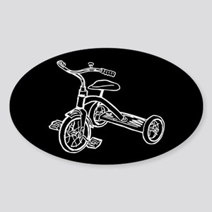 Tricycle Sticker (Oval)