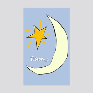 Sweet Dreams Moon Graphic, Rectangle Sticker