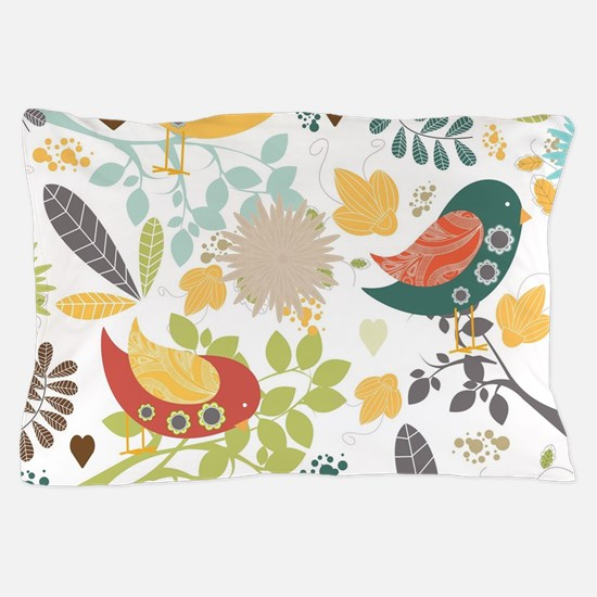 Woodland Birds Pillow Case