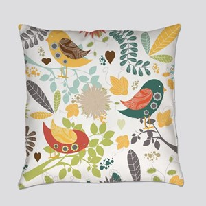 Woodland Birds Everyday Pillow
