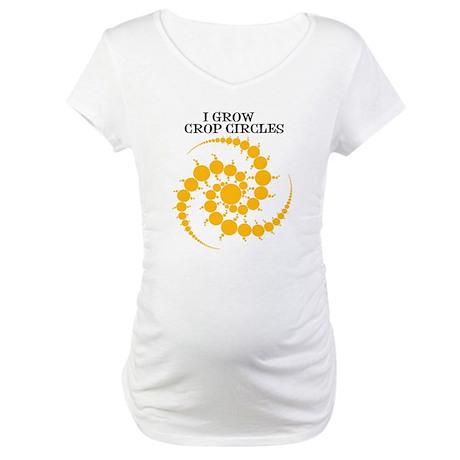 I Grow Crop Circles Maternity T-Shirt