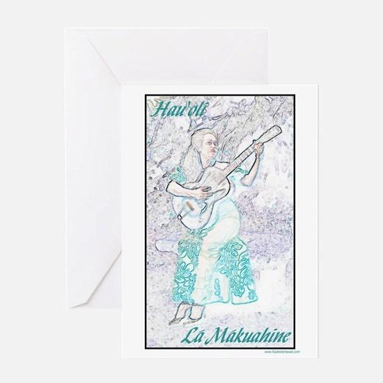 Wahine Ki Ho`alu Hawaiian Mother's Day Card