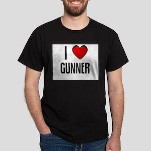 I LOVE GUNNER Black T-Shirt