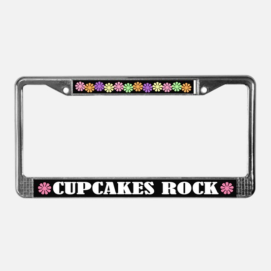 Cupcakes Rock License Plate Frame