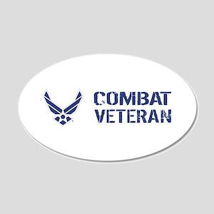 USAF: Combat Veteran 20x12 Oval Wall Decal