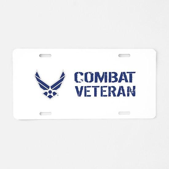 USAF: Combat Veteran Aluminum License Plate
