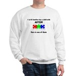 1 In 65 Families Child With Autism Sweatshirt