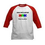 Child With Autism Kids Baseball Jersey