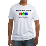 Person With Autism Fitted T-Shirt