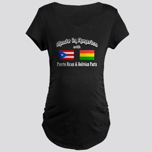 Puerto Rican-Bolivian Maternity Dark T-Shirt