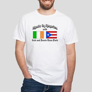 Irish-Puerto Rican White T-Shirt