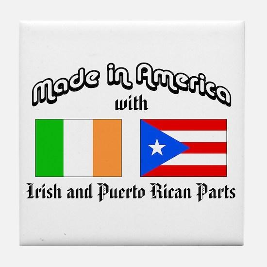 Irish-Puerto Rican Tile Coaster