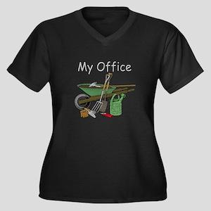 Garden Tool Women's Plus Size V-Neck Dark T-Shirt