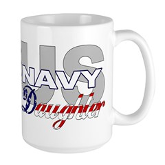 US Navy Daughter Large Mug