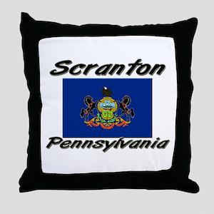 Scranton Pennsylvania Throw Pillow