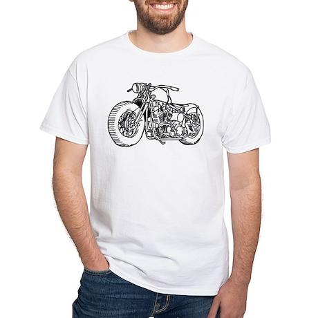 Motorcycle White T-Shirt