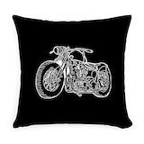 Motorcycle Woven Pillows