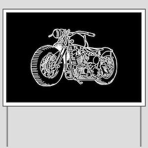 Motorcycle Yard Sign