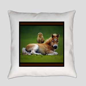 Colt with Owl Everyday Pillow