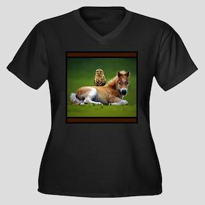 Colt with Owl Plus Size T-Shirt