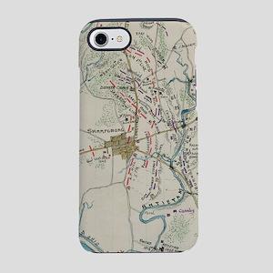 Vintage Map of Antietam Battle iPhone 7 Tough Case