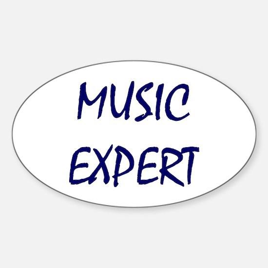 Music Expert, Music Snob Oval Decal